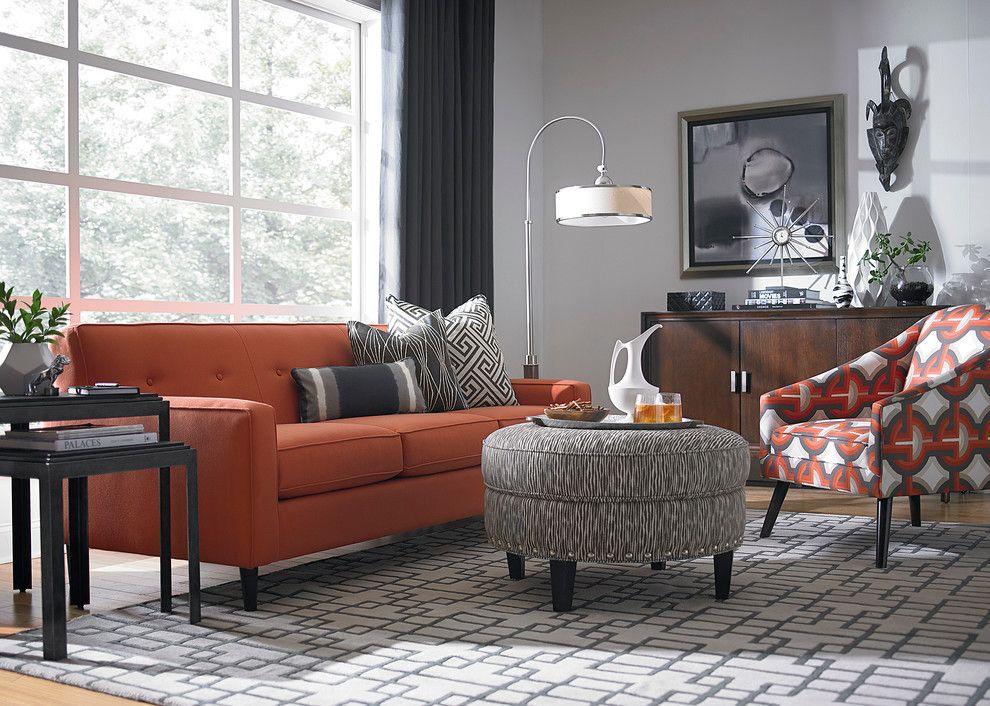 modern turuncu koltuk dekorasyonu