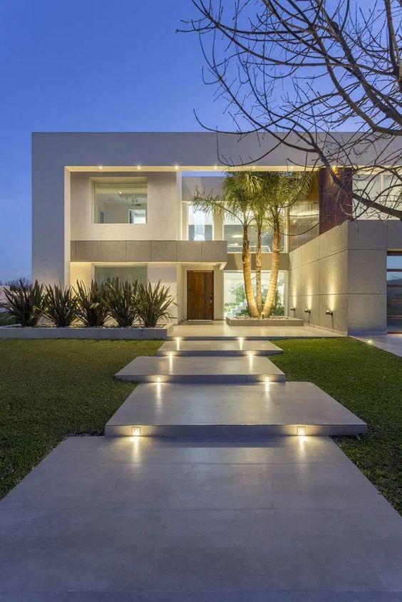 müstakil ev girişi ışıklandırma