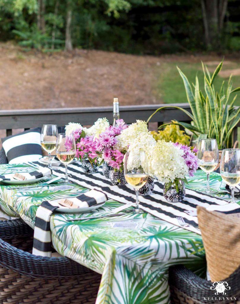 palmiyeli masa örtüsü