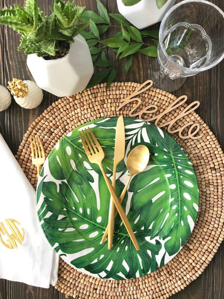 palmiye desenli tabak