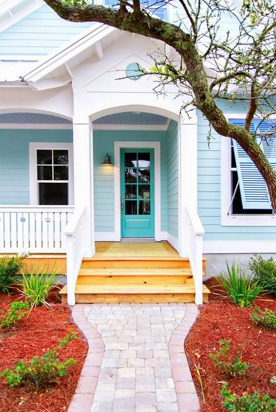 renkli müstakil ev girişleri