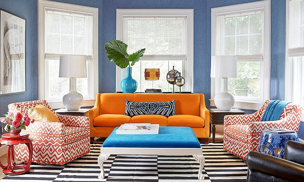 turuncu koltuk ev dekorasyon fikirleri