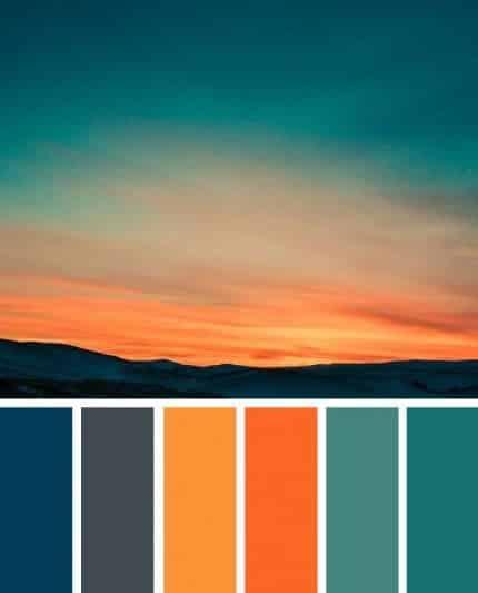 turuncu ile uyumlu renkler