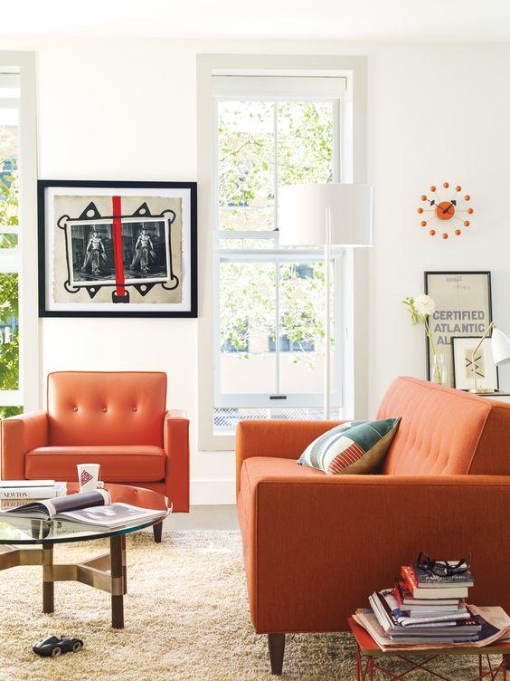 turuncu koltuk salon fikirleri