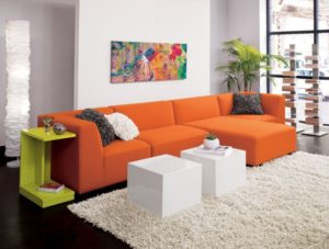 kübik turuncu koltuk