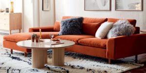 turuncu köşe koltuk kombinleri