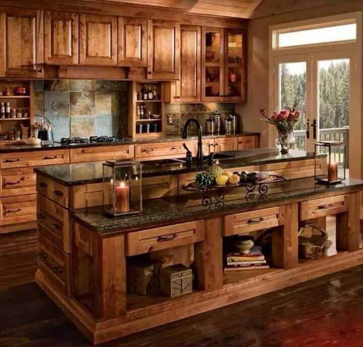 Amerikan country mutfak dolabı