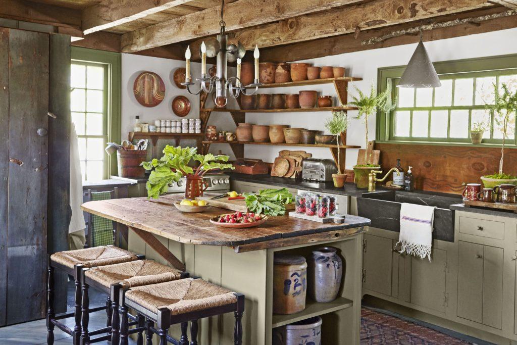 rustik country mutfak modeli