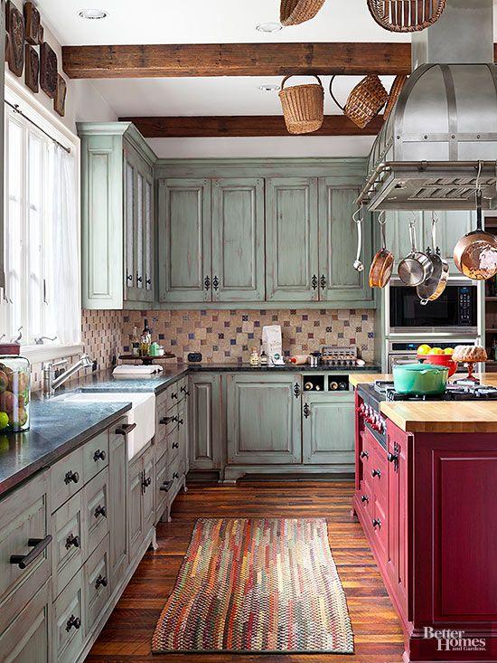 rustik country mutfak dolabı