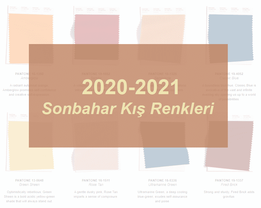 2020 2021 sonbahar kış renkleri pantone