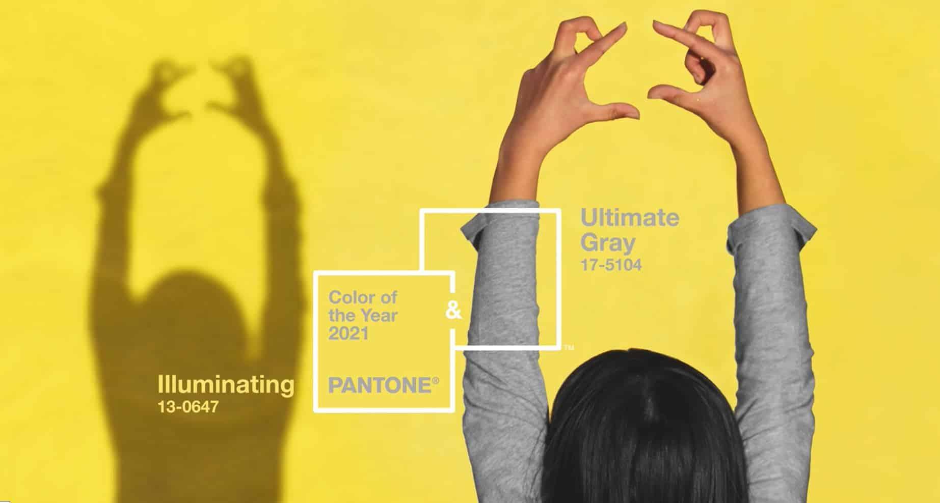 2021 yılı favori renkleri gri sarı