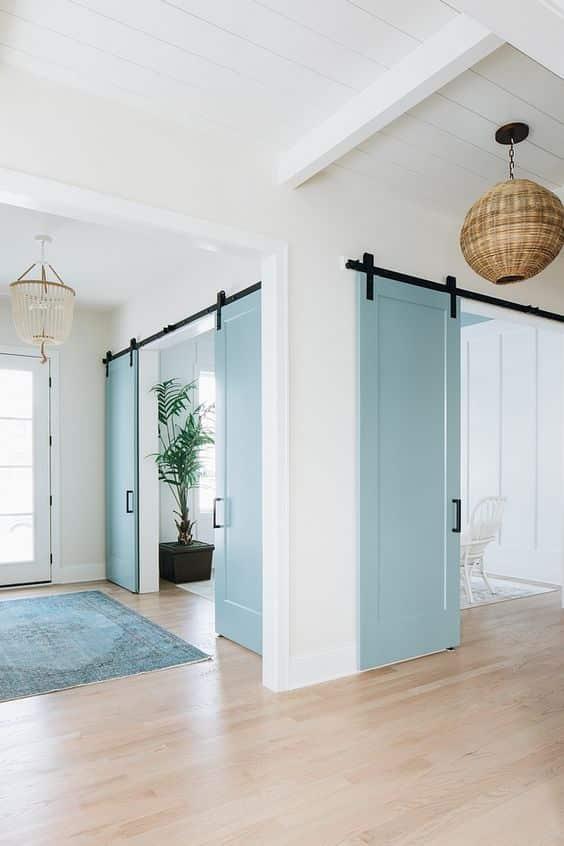 oda oluşturmak için sürgülü kapı kullanımı