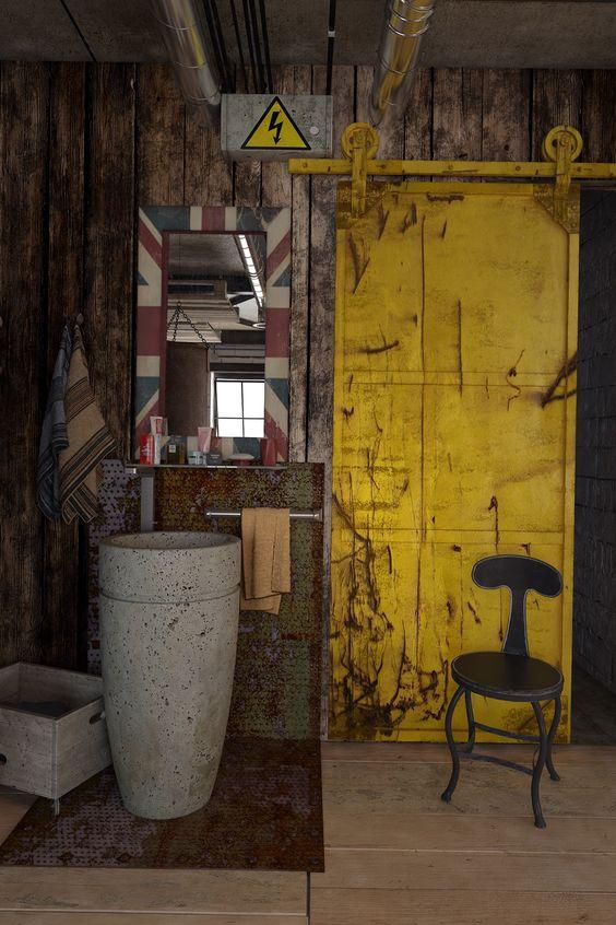 metal surgulu kapı sarı