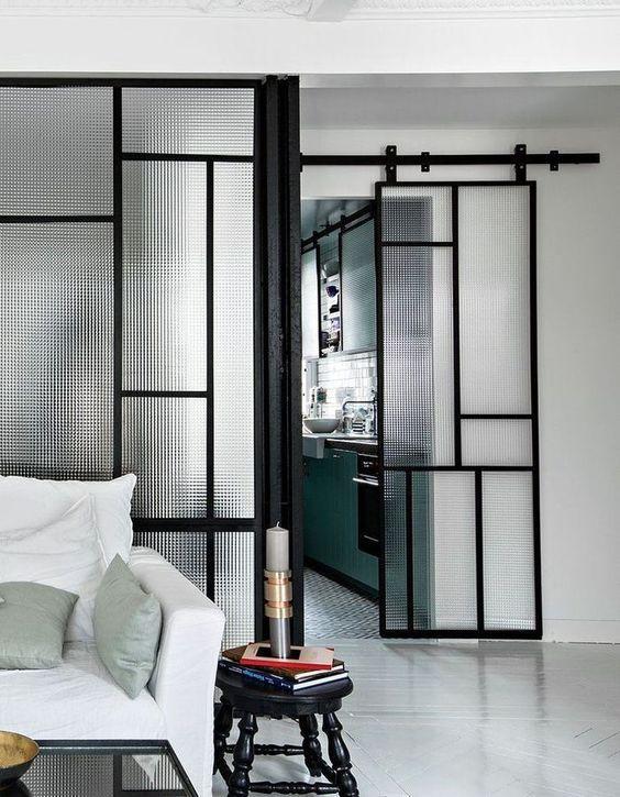 cam sürgülü kapı modern