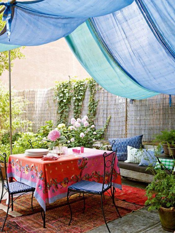 bahçe tente fikirleri
