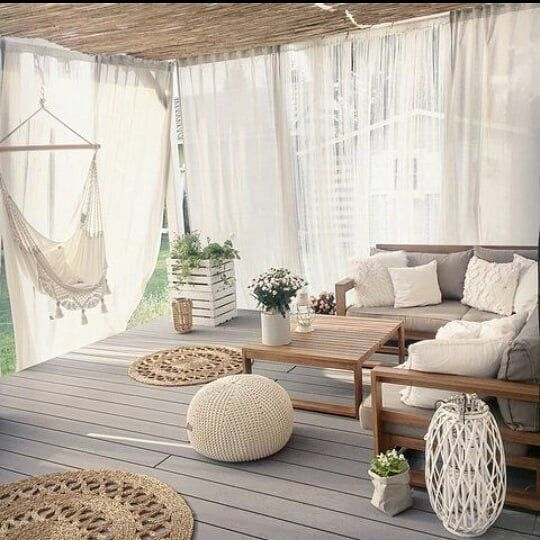 verandada perde kullanımı