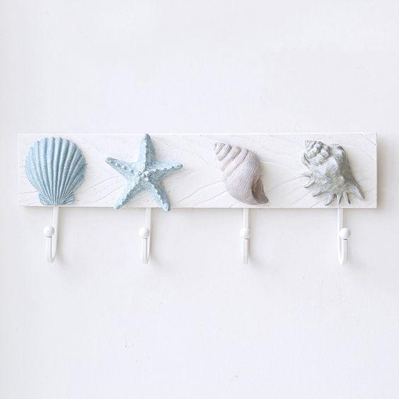 deniz kabuklarıyla askılık yapımı