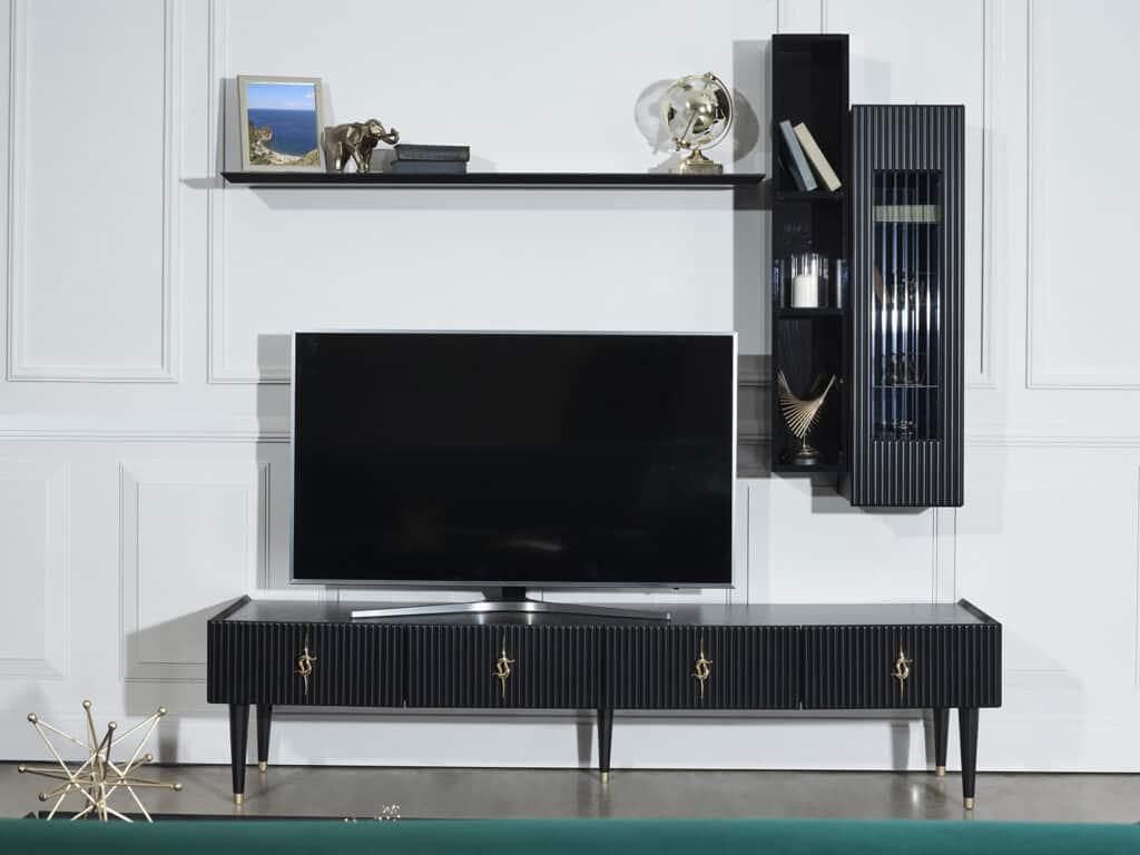 Berrak Mobilya Siyah TV Ünitesi